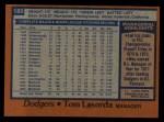 1978 Topps #189  Tommy Lasorda  Back Thumbnail