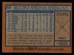 1978 Topps #296  Biff Pocoroba  Back Thumbnail
