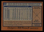 1978 Topps #128  Bill Russell  Back Thumbnail