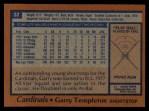 1978 Topps #32  Garry Templeton  Back Thumbnail