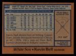 1978 Topps #463  Kevin Bell  Back Thumbnail