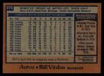 1978 Topps #279  Bill Virdon  Back Thumbnail
