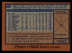 1978 Topps #407  Odell Jones  Back Thumbnail