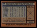1978 Topps #421  Junior Moore  Back Thumbnail