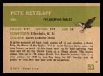 1961 Fleer #53  Pete Retzlaff  Back Thumbnail