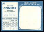 1961 Topps #62  Clyde Conner  Back Thumbnail