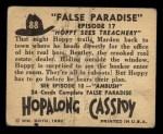 1950 Topps Hopalong Cassidy #88   Hoppy sees treachery Back Thumbnail