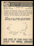 1959 Topps #129  Ollie Spencer  Back Thumbnail
