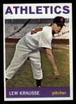 1964 Topps #334  Lew Krausse  Front Thumbnail