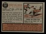 1962 Topps #548  Bobby Del Greco  Back Thumbnail