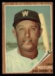 1962 Topps #125 GRN Gene Woodling  Front Thumbnail