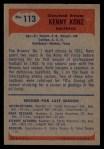 1955 Bowman #113  Ken Konz  Back Thumbnail