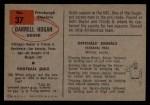 1954 Bowman #37  Darrell Hogan  Back Thumbnail