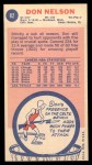 1969 Topps #82  Don Nelson  Back Thumbnail