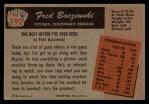 1955 Bowman #190  Fred Baczewski  Back Thumbnail