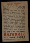 1951 Bowman #316  Duane Pillette  Back Thumbnail