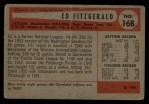 1954 Bowman #168  Ed Fitzgerald  Back Thumbnail