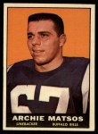 1961 Topps #158  Archie Matsos  Front Thumbnail