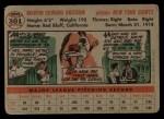 1956 Topps #301  Marv Grissom  Back Thumbnail