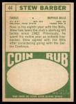 1968 Topps #44  Stew Barber  Back Thumbnail
