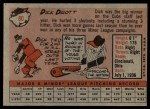 1958 Topps #80  Dick Drott  Back Thumbnail