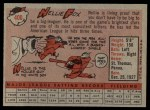 1958 Topps #400  Nellie Fox  Back Thumbnail