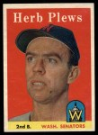 1958 Topps #109  Herb Plews  Front Thumbnail