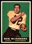 1961 Topps #196  Bob McNamara  Front Thumbnail