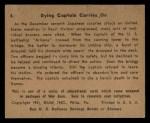 1941 Gum Inc. War Gum #4   Dying Captain Carries On Back Thumbnail