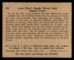 1941 Gum Inc. War Gum #89   Yank Flier's Bombs Wreck Nazi Supply Trains Back Thumbnail