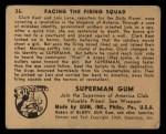 1940 Gum Inc. Superman #36   Facing the Firing Squad Back Thumbnail