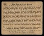 1941 Gum Inc. War Gum #108   King George II Of Greece Back Thumbnail