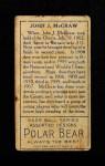1911 T205  John McGraw  Back Thumbnail