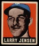 1948 Leaf #56  Larry Jensen  Front Thumbnail