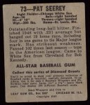 1948 Leaf #73  Pat Seerey  Back Thumbnail