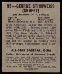 1948 Leaf #95  George Stirnweiss  Back Thumbnail