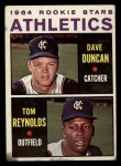1964 Topps #528   -  Dave Duncan / Tom Reynolds Athletics Rookies Front Thumbnail