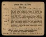 1941 Gum Inc Uncle Sam #64   Riot Duty Back Thumbnail