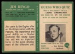 1966 Philadelphia #141  Jim Ringo  Back Thumbnail