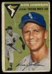 1954 Topps #146  Don Johnson  Front Thumbnail