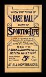 1910 M116 Sporting Life  Ed Lennox  Back Thumbnail