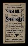 1910 M116 Sporting Life  Bill Carrigan  Back Thumbnail