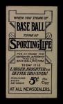 1910 M116 Sporting Life  Doc White  Back Thumbnail