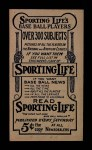 1910 M116 Sporting Life  Art Fletcher  Back Thumbnail