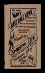 1910 M116 Sporting Life  Eddie Cicotte  Back Thumbnail