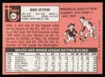 1969 Topps #461 WN Mike Epstein  Back Thumbnail
