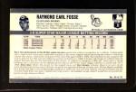 1971 Kellogg's #39  Ray Fosse   Back Thumbnail