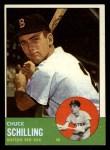 1963 Topps #52 ERR Chuck Schilling  Front Thumbnail