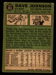 1967 Topps #363  Davey Johnson  Back Thumbnail