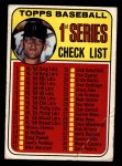 1969 Topps #57 xCLR  -  Denny McLain Checklist 1   Front Thumbnail